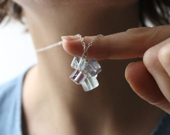 Rainbow Fluorite Necklace for Mental Clarity and Focus