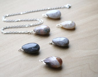 Natural Agate Necklace for Balance and Courage