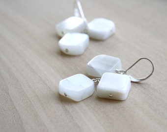 White Moonstone Earrings for Stability and New Beginnings NEW