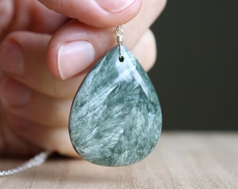 Seraphinite Necklace for Spiritual Enlightenment and Wholeness