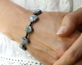 Larvikite Bracelet for Grounding and Reflection