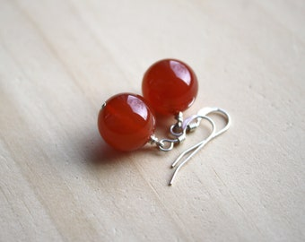 Natural Carnelian Earrings for Stability and Willpower