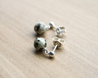 Dalmatian Stone Studs in Sterling Silver for Freedom and Adventure