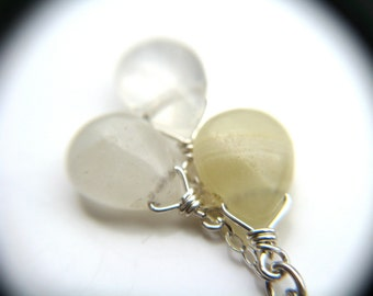 Yellow Agate Necklace . Healing Crystals for Stress Relief Gifts