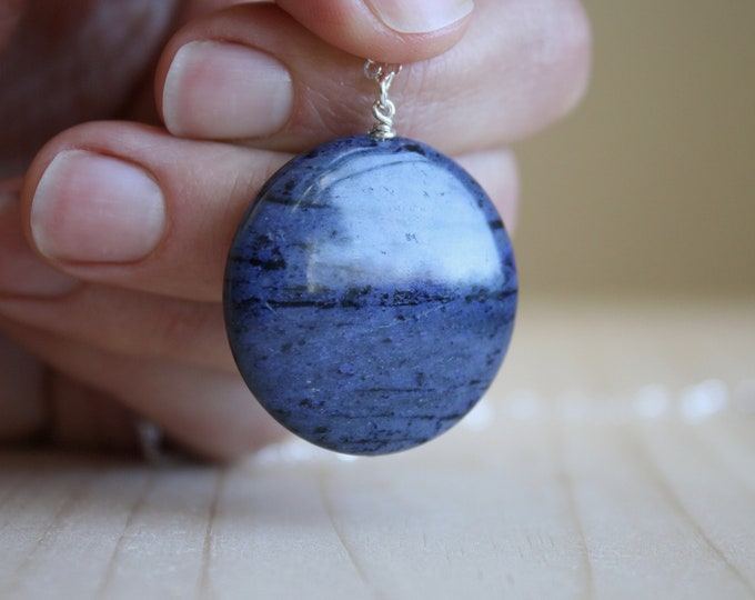 Featured listing image: Dumortierite Necklace for Patience and an Open Heart NEW