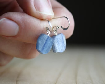 Blue Kyanite Earrings for Meditation and Calm