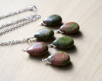 Unakite Necklace for Patience and Emotional Ease