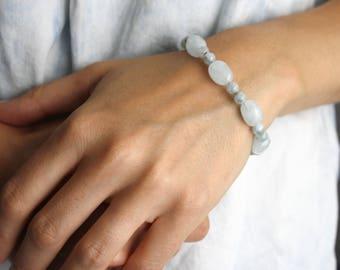 Aquamarine Bracelet . March Birthstone Gifts