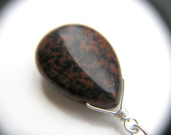 Crystals for Strength . Mahogany Obsidian Necklace
