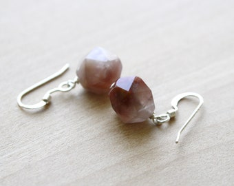 Natural Quartz Earrings in Sterling Silver for Energy and Breaking Down Barriers