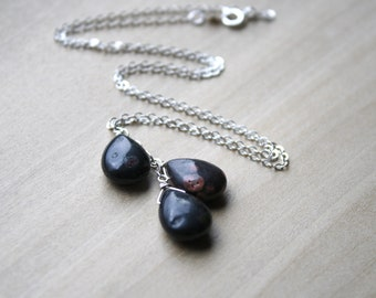 Black Jasper Necklace for Protection and Grounding
