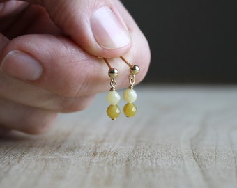 Natural Yellow Opal Earrings for Creativity and Independence NEW