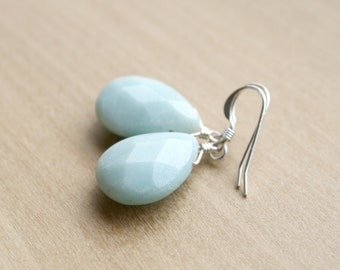 Natural Amazonite Earrings for Calm and Clarity