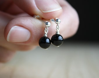 Black Onyx Earrings Studs . Anxiety Earrings . Black Stone Stud Earrings Silver . Black Onyx Earrings Dangle . Black Sphere Earrings NEW
