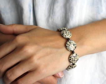 Dalmatian Jasper Bracelet . Stones for Protection