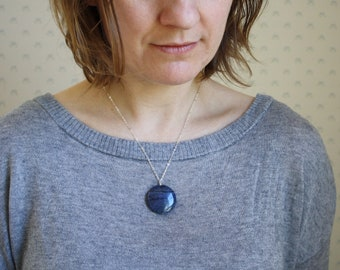 Dumortierite Necklace for Patience and an Open Heart