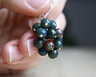 Bloodstone Earrings . Jewelry for Anxiety Relief