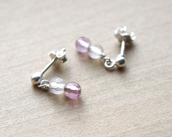 Purple Fluorite Studs for Clarity and Focus