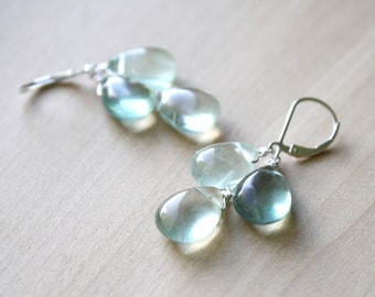 Green Fluorite Earrings for Concentration and Clarity