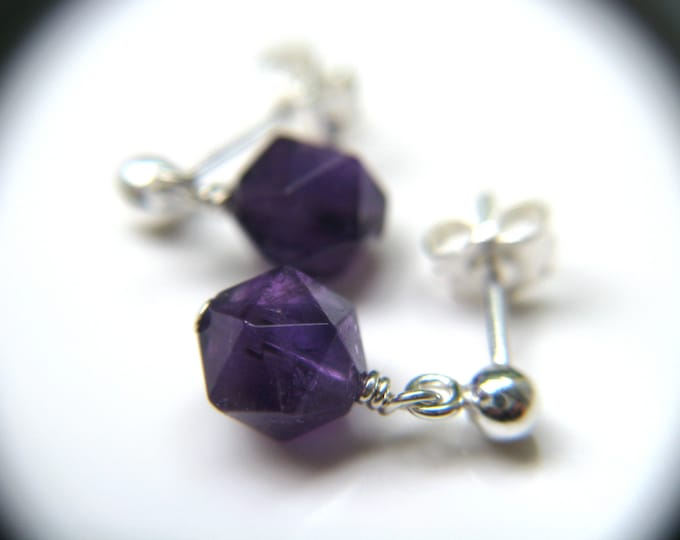 Featured listing image: Amethyst Stud Earrings