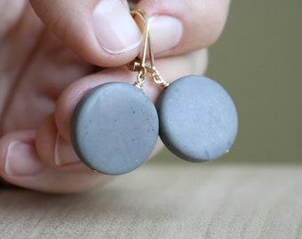Natural Grey Jasper Earrings for Grounding and Strength