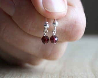 Natural Garnet Earrings for Unconditional Love and Courage