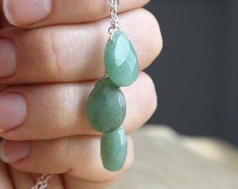 Green Aventurine Necklace for Inner Strength