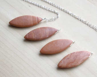 Red Jasper Necklace in Sterling Silver for Strength and Protection