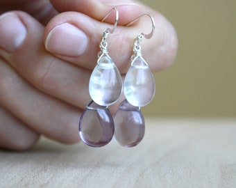 Rainbow Fluorite Earrings for Clarity and Focus