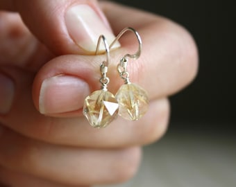 Citrine Earrings in Sterling Silver for Energy and Positivity