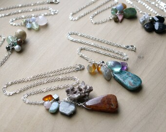 Personal Intention Necklace with Natural Healing Crystals - Choose your own NEW