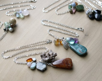 Personal Intention Necklace with Natural Healing Stones - You Choose