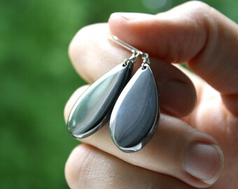 Hematite Lever Back Earrings for Meditation and Anxiety Relief