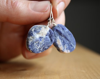 Sodalite Earrings for Creativity and Intuition NEW