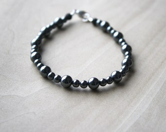 Hematite Bracelet for Anxiety Relief and Meditation