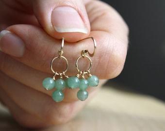Green Aventurine Earrings for Prosperity and Strength