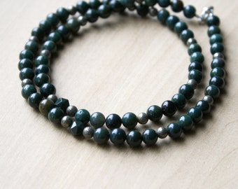Bloodstone and Pyrite Necklace for Protection and Security