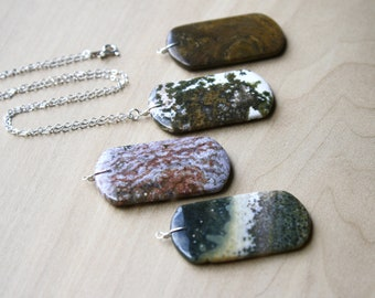 Ocean Jasper Necklace for Strength and Protection NEW