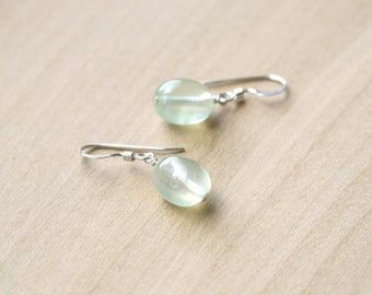 Prehnite Earrings for Unconditional Love and Inner Peace