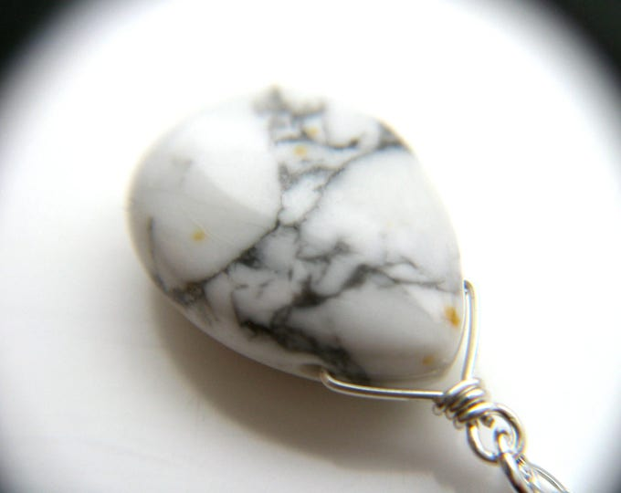 Featured listing image: White Howlite Necklace for Anxiety Relief and Calm