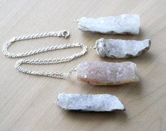 Natural Geode Necklace for Healing and Balance