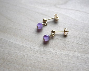 Natural Amethyst Earrings for Protection and Focus NEW