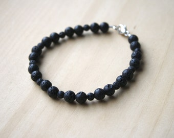 Lava Stone Bracelet for Grounding and Calm