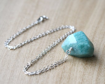 Green Amazonite Necklace for Anxiety Relief and Clarity