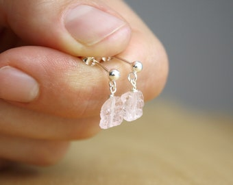 Rose Quartz Stud Earring NEW