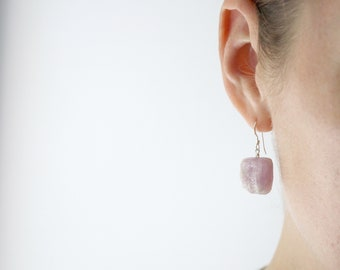 Pink Kunzite Earrings . Unconditional Love Jewelry