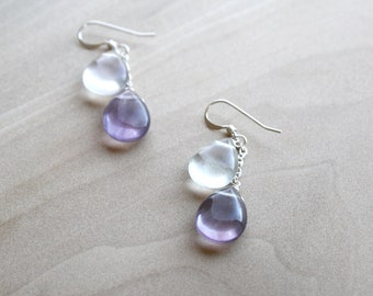 Rainbow Fluorite Earrings for Clarity and Focus NEW