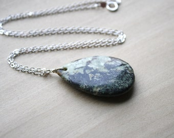 Green Jasper Necklace for Protection