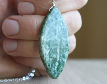 Tree Agate Necklace for Balance and Calm