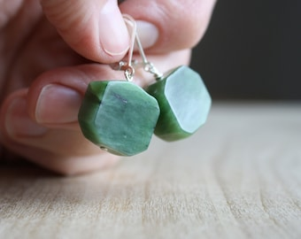 Canadian Jade Earrings for Harmony and Good Luck